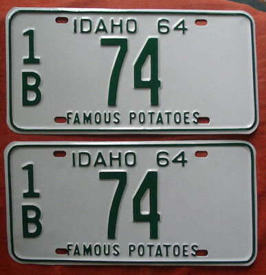 1964 Idaho License Plate Pair