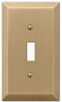Brushed Bronze Champagne Gold Switchplate Light Wall Plate Cover Outlet Toggle