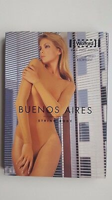 WOLFORD long sleeve BUENOS AIRES STRING BODY suit size L large BLACK classic NEW