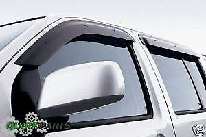 2004-2015 Nissan Titan Crew Cab Side Window Deflector Vent Visor OEM NEW