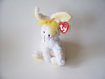 Carrots Ty Beanie Baby, New, MWMT, 2001, White Spotted Rabbit, 5+, Boys and Girl