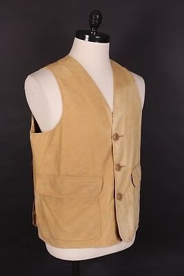Vtg 60S Sears Duck Hunting Canvas Vest Usa Mens Size Large