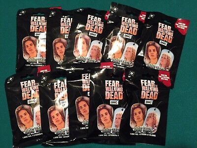 ✔ SEALED 10 Blind packs  FEAR The WALKING DEAD dog tag Lot - NO TAX!