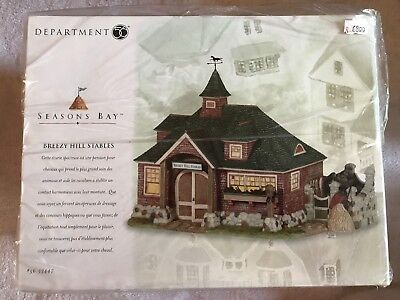Dept. 56 Seasons Bay Breezy Hill Stables 53447 Sealed New