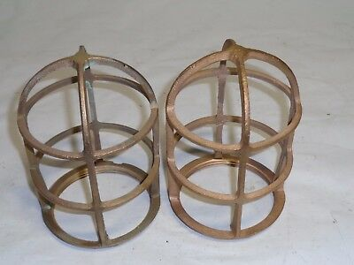 Vintage light cages, solid brass, R&S Co., used