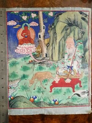 Antique Tibetan Buddhist Thangka Painting  #2