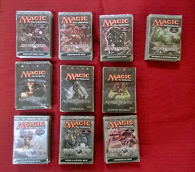 magic the gathering Deck Konvolut Nachtstahl Abendkühle Mirrodin