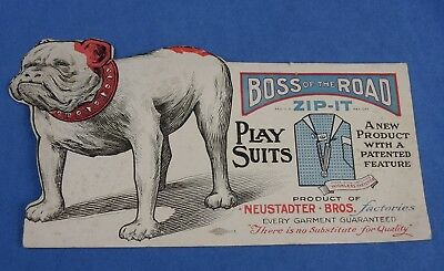 Boss of the Road Neustadter Bros Vintage Workwear Jeans Co Bulldog Blotter Card
