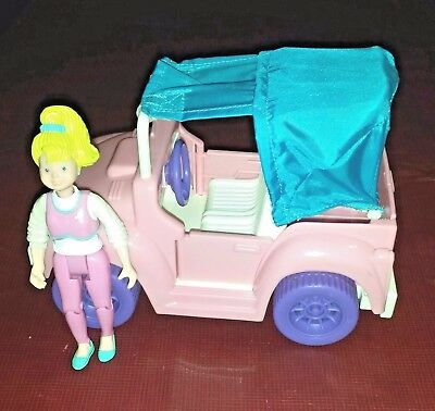Fisher Price Dream Dollhouse Loving Family Jeep RV Truck Car and Blonde Teenager