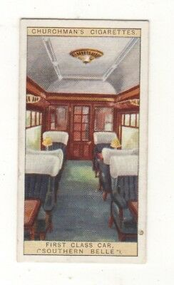 Train Card. First Class Car on the Southern Belle.
