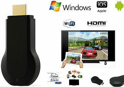Chiavetta HDMI Dongle Wifi Display Mirror TV Airplay Streaming come Chromecast