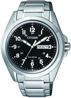 Citizen Eco-Drive AW 0050-58E Stainless Steel Mens Watch. Classic Look.