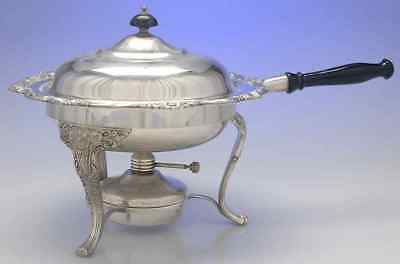 International HERITAGE SILVERPLATE Chafing Dish With Burner & Stand 8892930