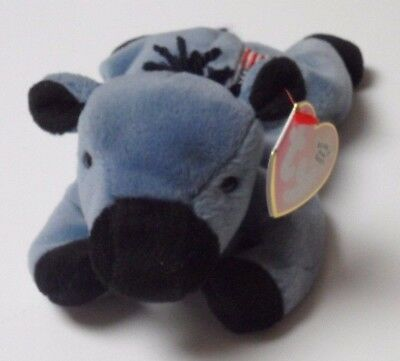ORIGINAL TY LEFTY the DONKEY BEANIE BABY - MINT with FADED TAG - SEE PICS