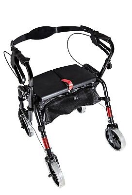 NEW Aluminum Rollator Foldable Walker Rollator, no need to assemble!