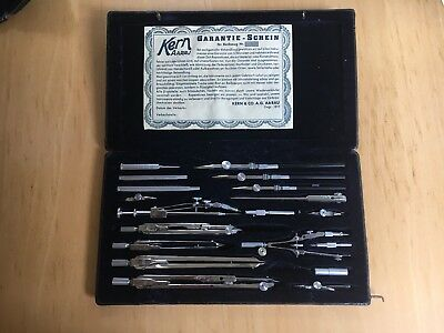 Antique Vintage Kern Technical Mathematical Drawing Instruments Geometry Set