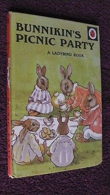 Ladybird Book, Crisp Pages, 15p,  Bunnikin's Picnic Party, Series 401,