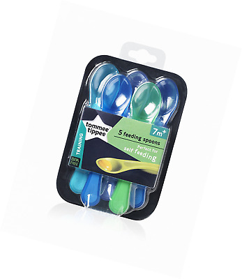 Tommee Tippee Explora Baby Feeding Spoons, Assorted color  - (5 Count)