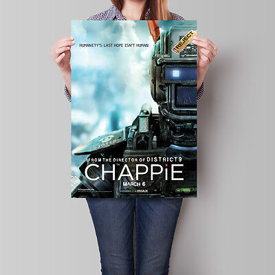 Chappie Movie Poster 2015 Film Hugh Jackman 16.6 x 23.4 in (A2)