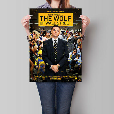 The Wolf of Wall Street Movie Poster 2013 Leonardo DiCaprio 16.6 x 23.4 in (A2)