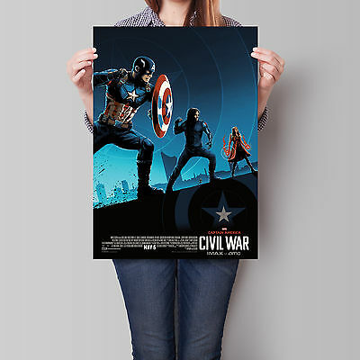 Captain America Civil War Poster 2016 IMAX Movie Wall Art 16.6 x 23.4 in (A2)