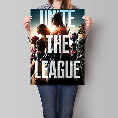 Justice League Poster 2017 Movie Unite The League 16.6 x 23.4 in (A2)