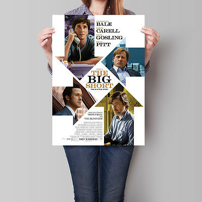 The Big Short Poster 2015 Movie Bale Carell Gosling Pitt 16.6 x 23.4 in (A2)