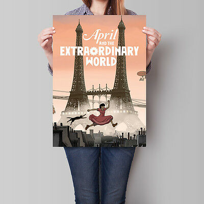 April and the Extraordinary World Movie Poster 16.6 x 23.4 in (A2)