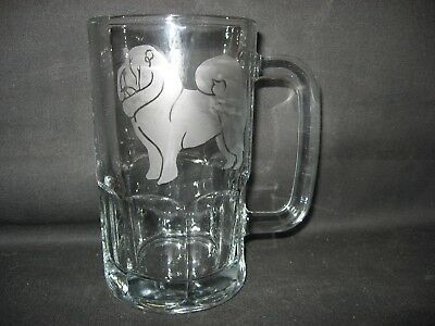 New Etched Chow Chow Glass Root Beer Mug