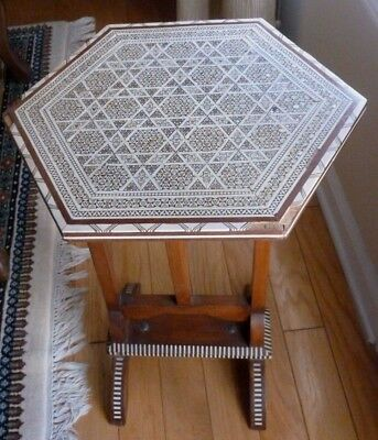 EGYPTIAN INLAND MOTHER OF PEARL COFFEE TABLE - CIRCA 1960's