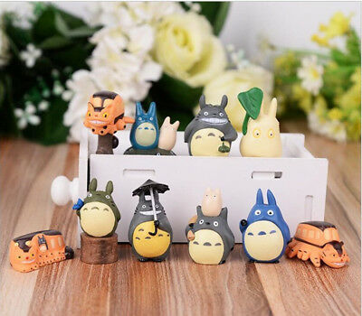 My Neighbor Totoro 10pc PVC Action Figure Toys Doll Decor Kids Xmas Gift Cat Bus