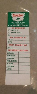 NOS SINCLAIR OIL Service Station Car Door Decal Sticker