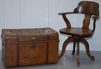 Circa 1850 J.bates Of Wolverhampton 1 Of 4 Stunning Steamer Ship Trunks Luggage