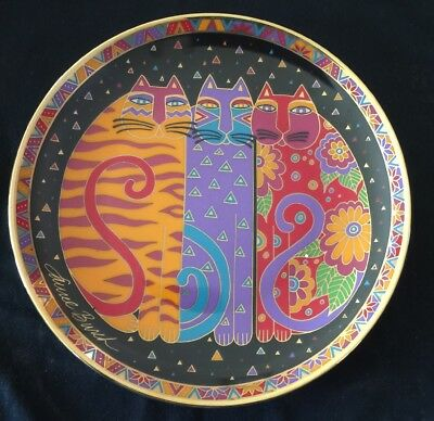 Fanciful Felines Plate by Laurel Burch 1995 the Franklin Mint Co