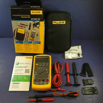 Brand New Fluke 87V/E2 Industrial Electrician Combo Kit, 87-5 87-V, Original Box