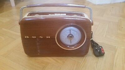 Bush Portable Transistor 'Antique Radio' Model TR82 Wood Effect