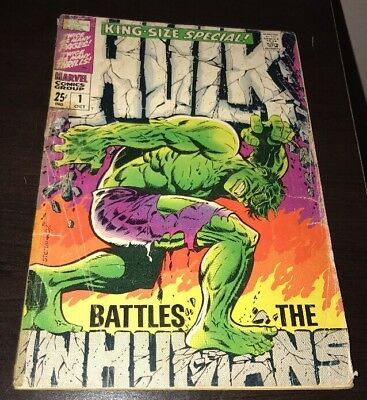 Incredible Hulk Annual King Size Special #1 Vs. Inhumans Steranko CLASSIC COVER