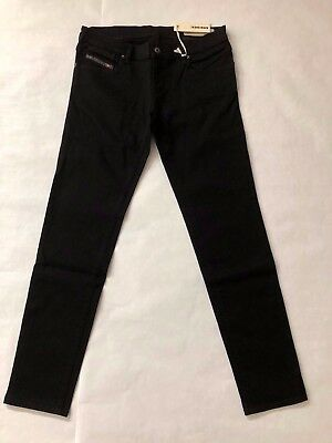 Diesel Getlegg 0RZ22 Stretch Woman Jeans Black NWT Authentic Retail 178 USD