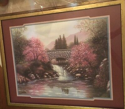 Home Interiors Designer Series The Old Stone Bridge 30x25 Picture Joe Sambataro