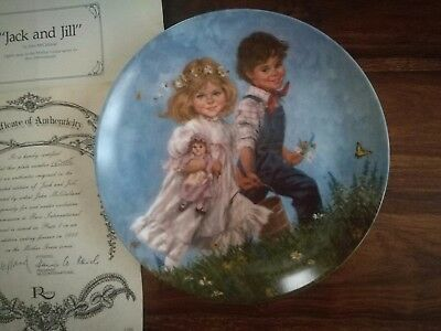 """""""Jack and Jill"""" exclusive limited edition plate by John McClelland."""