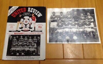 Manchester United Busby Babes Vintage Photograph And Programme.