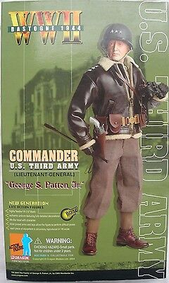 "1/6 scale 12"" collectable action figure by Dragon DML of General George S Patton"