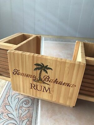 Tommy Bahama Wooden Cocktail Bar Caddy