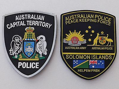 ACT Police & Australia Peace Keeping Force SI Rubber patches