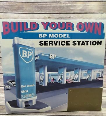 Build your Own BP Gas Service Station Car Wash Toy Model Kit Set 1995