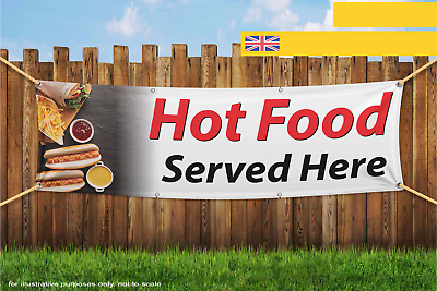 Hot Food Served Here Heavy Duty PVC Banner Sign 2211