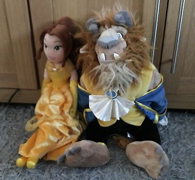 Disney Store Beauty And The Beast Belle And Beast Plush Soft Toy Teddies
