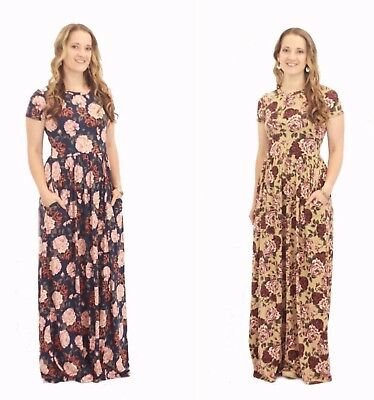 S M L 1X 2X 3X 4 Colors NEW Boutique Reborn J SHANNON FLORAL SWING Dress