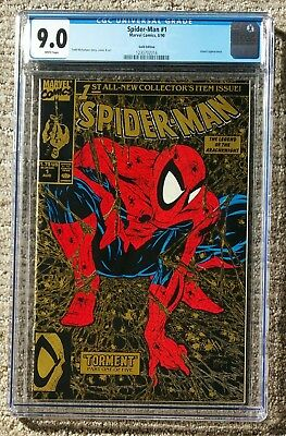 Spider-Man #1 – Gold Edition McFarlane – Marvel 1990 – CGC 9.0