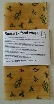 Beeswax Food Wraps - 1 x large size  - 26cm x 28cm